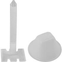 Чашки 50 штук та стяжки 50 штук для вирівнювання плитки VOREL, мінімальний стик 0.75 мм, плитка 3-40 мм