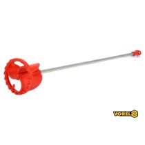 Міксер для фарб пластиковий оцинкований VOREL Ø80 х 500 мм HEX-8 мм