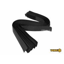 Хомут-липучка для кабеля VOREL 25 x 450 мм нейлон + поліестер + поліуретан 10 шт