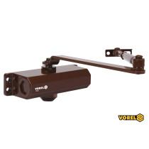 Дотягувач дверей механічний VOREL 40-65 кг 180° 182 х 42 х 63 мм
