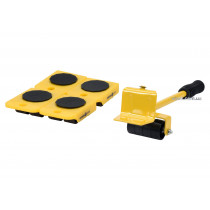Набір для переміщення меблів VOREL : макс. вага- 150 кг, висота- 70 мм, 4 підставки + важіль, 5 шт