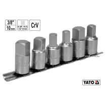 """Набір торцевих головок для оливозливних пробок YATO 3/8"""" 3/8"""" 1/2"""" 8-10-12-14 мм 6 шт"""