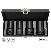 """Головки торцеві ударні для зриву гвинтів YATO 1/2"""" 55 мм М17-26 4 шт"""