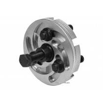 Знімач шківа в ГРС двигуна, універсал. 3-лапковий YATO: тримач веретена- М17, Ø=50-80 мм, 6 положень