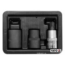 """Головки 5-гранні для гальмівної системи авто YATO 1/2"""" 10/14/19 мм 3 шт"""