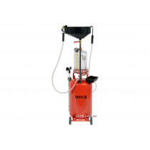 Пристрій для зливу оливи на колесах пневматичний YATO 90 л 0.18/0.8 Мпа 6 зондів