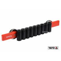 Рейка пластикова з магнітним кріпленням для 9 викруток YATO 350 х 50 х 40 мм