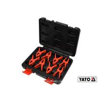 Затискачі для металевих проводів YATO 8 шт + кейс