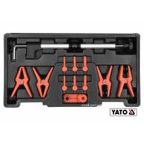 Затискачі для металевих і гнучких проводів YATO 12 шт + кейс