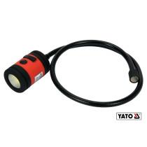 Лампа світлодіодна акумуляторна з гнучким тримачем YATO Li-Po 3.7 В 1.5 Агод 3 Вт 100 лм