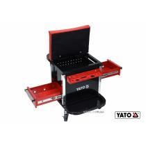 Табурет на колесах YATO з 2 шуфлядами 530 x 470 x 360 мм 150 кг