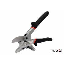 Ножиці для пластику гуми вінілу YATO 245 мм для різання під кутом 22.5° і 45° Cr-V