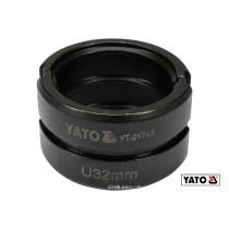Насадка для прес-кліщів YT-21735 YATO U32 мм