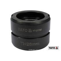 Насадка для прес-кліщів YT-21735 YATO TH26 мм