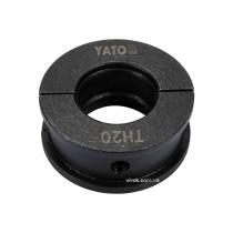Насадка для прес-кліщів YT-21750 YATO TH20 мм
