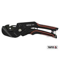 Труборіз для ПВХ труб YATO Ø36 мм алюмінієвий корпус ручка- ABS + TPR