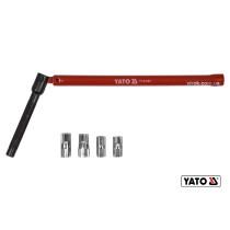 Ключ для затягування фітингів шарнірний YATO HEX 13 мм 8-12 мм зі сталі