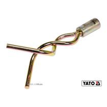 Наконечник спіральний для очищення каналізації YATO 165 х 7 мм з оцинкованої сталі до YT-24980