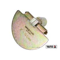 Скребок півкруглий для очищення каналізації YATO 9.5 см x 1.5 мм з оцинкованої сталі до YT-24980