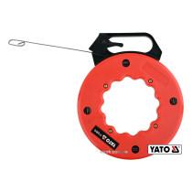 Пристрій для протягування кабелів на бобіні YATO 15.3 м 3 х 1.5 мм