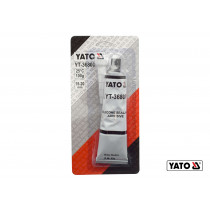 Клей-герметик силіконовий термо- і оливостійкий сірий YATO 85 г