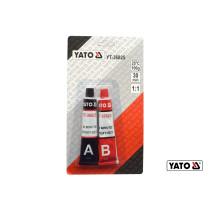 Клей двокомпонентний епоксидний YATO 20-30 хв по 28 г