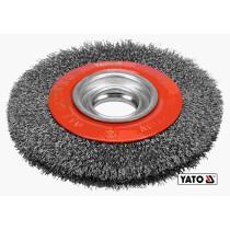 Щітка дискова зачисна з нержавіючої сталі YATO Ø150/32 мм 6000 об/хв