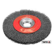 Щітка дискова зачисна з нержавіючої сталі YATO Ø200/32 мм 4500 об/хв