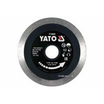 Диск відрізний алмазний по гресу, склу, кераміці для мокрої різки YATO 115 х 1.6 х 10 х 22.2 мм
