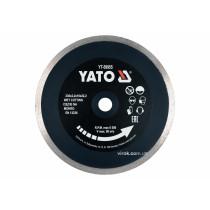 Диск відрізний алмазний по гресу, склу, кераміці для мокрої різки YATO 230 х 2.2 х 10 х 22.2 мм
