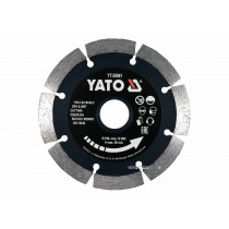 Диск відрізний алмазний по каменю і бетону для мокрої та сухої різки YATO 115 x 1.8 x 10 x 22.2 мм