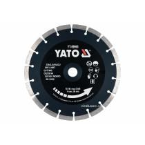 Диск відрізний алмазний по каменю і бетону для мокрої та сухої різки YATO 230 x 2.2 x 10 x 22.2 мм