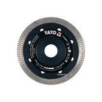 Диск відрізний алмазний по гресу, склу, кераміці YATO Ø=115x1.6x10x22.2 мм, в сухому режимі