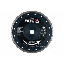 Диск відрізний алмазний по гресу, склу, кераміці для мокрої та сухої різки YATO 230 x 2 x 10 x 22.2 мм