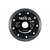 """Диск відрізний алмазний по гресу і кераміці для мокрої та сухої різки """"TURBO"""" YATO 115 x 1.3 x 10 x 22.2 мм"""