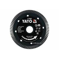 """Диск відрізний алмазний по гресу і кераміці для мокрої та сухої різки """"TURBO"""" YATO 125 x 1.3 x 10 x 22.2 мм"""