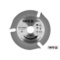 Диск пиляльний по дереву YATO Ø125 x 22.23 x 3.8 мм 3 зубці R.P.M до 12200 1/хв