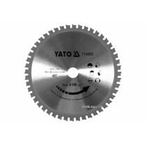 Диск пиляльний по металу YATO: Ø= 185x2.2x20 мм, 48 зубців, R.P.M до 6000 1/хв