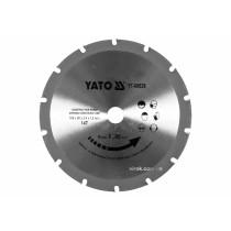 Диск пиляльний по дереву з цвяхами YATO 185 х 20 x 2.4 x 1.8 мм 14 зубців R.P.M до 9000 1/хв