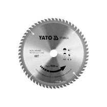 Диск пиляльний победітовий по дереву YATO: 190x20x2.2x1.5 мм, 60 зубців, R.P.M до 8500 1/хв