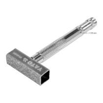 Брусок алмазний для вирівнювання абразивних дисків YATO: 45.5 х 13 мм, металева ручка