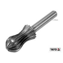 Фреза грушоподібна по металу YATO Ø13 x 25/55 мм HSS 4241 хвостовик- Ø6 мм