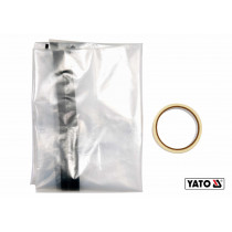"""Плівка пилезахисна для дверних і віконних отворів YATO 220 х 120 см тип """"L"""" отвір- 180 х 90 см"""
