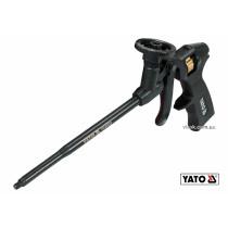 Пістолет для нанесення монтажної піни YATO алюміній + латунь пластикова ручка