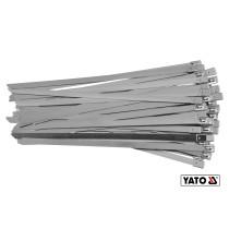 Хомут затискний з нержавіючої сталі YATO 8 х 200 мм 50 шт
