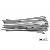 Хомут затискний з нержавіючої сталі YATO 8 х 450 мм 50 шт