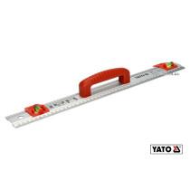 Лінійка алюмінієва з ручкою YATO 500 x 59 x 2 мм 2 капсули