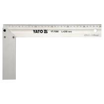 Кутник столярний алюмінієвий YATO 250 мм