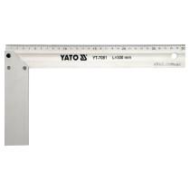 Кутник столярний алюмінієвий YATO : l= 300 мм [6/36]