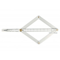 Кутомір алюмінієвий на шарнірах YATO зовнішній/внутрішній діапазони- 10-170°/5-85° 380 мм
